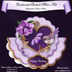 Enchanted Orchid Wobble Card Mini Kit on Craftsuprint - Add To Basket!