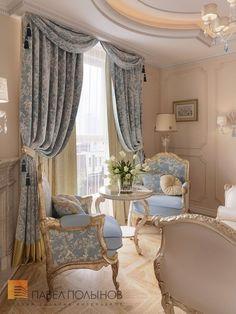 Home n decor, Curtain decor, Baroque decor, Luxuri Classy Living Room, Home Living Room, Living Room Designs, Living Room Decor, Bedroom Decor, French Living Rooms, Bedroom Wall, Wall Decor, Rideaux Design