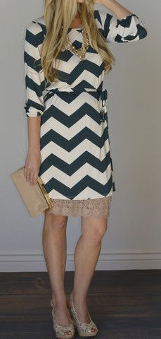 Avery Chevron Print Dress