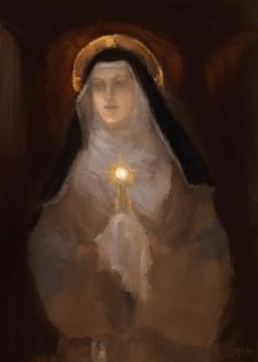 Saint Clare of Assisi - Aug 11 Patron Saint of Embroiderers
