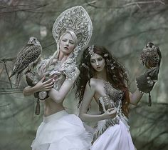 Fantastic art from @agnieszka_lorek -  @mariaamanda_official & Joanna (@forest_spirit_art) models 💓💕in amazing costumes from @agnieszkaosipa 💓#agnieszkalorek #shoot #fantasy #falcons #fairy #fairytale #fairyprincess #costumes #pearls #whitedress #kokoshnik #ornaments #ethereal #loveit #girlwithbird #magic #instacool #Regrann