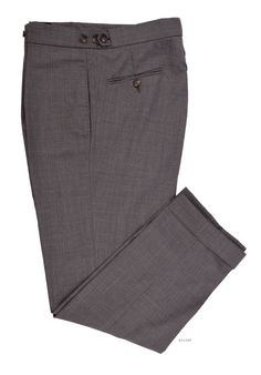 Luxire dress pants constructed in Vitale Barberis Canonico - 120s 2 Ply Mid Grey: http://custom.luxire.com/products/vbc-vitale-barberis-canonico-120s-2-ply-mid-grey-vbc_540_901_4  Consists of extra long extended closure with button fly and elastic adjusting waistband.