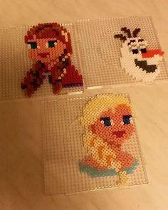 Frozen characters hama beads by kakana22