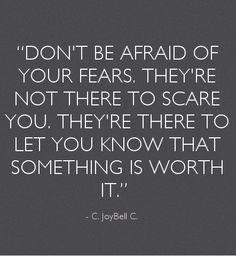 Tenho tantos medos relativamente à minha família, à minha relação, ao meu futuro como educadora de infância... Mas todos esses medos fazem-me perceber o quanto amo estas pessoas que fazem e que irão fazer parte da minha vida. Sinto uma felicidade tão pura e tão verdadeira que é impossível de ser explicada. O medo de perder alguma delas ou de as desiludir é o que me faz perceber que valem realmente a pena! <3