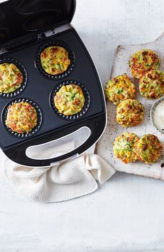 We've made family favourite zucchini and haloumi fritters even easier by cooking them in a Kmart pie maker. They're perfect for dinner or packed in the lunch box. Breville Pie Maker, Mini Pie Recipes, Vegetarian Recipes, Cooking Recipes, Zucchini, Savoury Baking, Mini Pies, Fritters, Food To Make