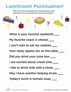 Worksheets Kindergarten Punctuation Worksheets punctuation in the garden gardens it is and free printables worksheets buscar con google