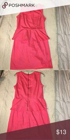 Coral Peplum Dress!!!!! ?? H&M peplum dress..worn once. Adorable size 12 H&M Dresses