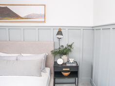 Guest Bedroom & Office Final Reveal – Chic Home Office Design Guest Bedroom Office, Guest Bedrooms, Home Bedroom, Bedroom Wall, Master Bedroom, Bedroom Decor, Guest Bedroom Colors, Ikea Bedroom Design, Guest Room