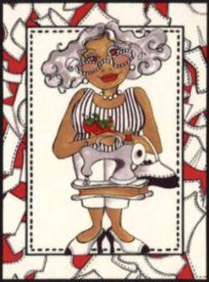 "Loralie Designs ""Sew Fabulous"" 21 different characters. Via stitchingpostquilts.com"