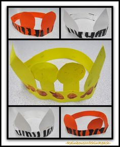Jungle Animal Crown Headbands via RainbowsWithinReach