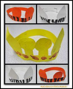Jungle Animal Crown Headbands via RainbowsWithinReach