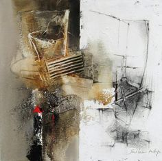 """Hyun Jou-Lee - Day After Day II - 18"""" x 18"""" - mixed media on canvas"""
