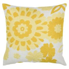 Rizzy Home Contemporary Floral Throw Pillow $44.99