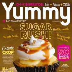 Welcome to YUMMY, the modern food magazine dedicated to the everyday pleasures of grocery-shopping, cooking, and eating. Each issue is packed with fresh food. Modern Food, No Bake Treats, Cinnamon Rolls, Easy Meals, Menu, Cooking Recipes, Sweets, Magazine, Fresh