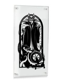Maleficent Sleeping Beauty silhouette hand cut paper craft
