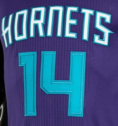 """WORDMARK · White """"Hornets"""" wordmark with teal background · Signifies the importance of the name returning  FONTS · Lettering is the primary ..."""