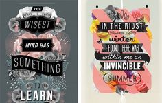 100 Lovely Typography Designs to Inspire You | Typography
