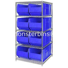 Sneaker Storage System.  Shelving unit with storage bins to keep sneakers in.