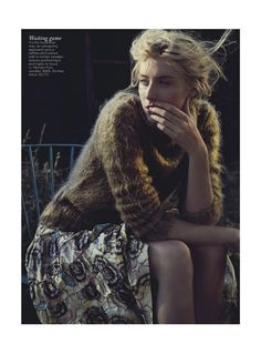 'See You At Dawn'   Cover + Full Editorial   Elizabeth Debicki By Will Davidson For Vogue Australia   December 2012