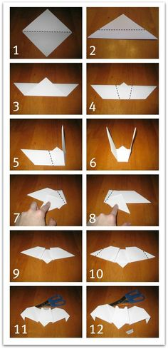 Relentlessly Fun, Deceptively Educational: Origami Bats do with stellalluna! Diy Origami, Origami Design, Origami And Kirigami, Paper Crafts Origami, Useful Origami, Paper Crafting, Oragami, Origami Halloween, Halloween Crafts