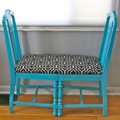 Teal Chair Bench