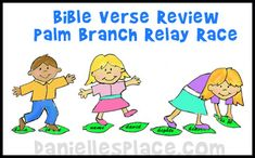 Easter Craft - Palm Branch Bible Verse Relay Game for Easter from www.daniellesplace.com