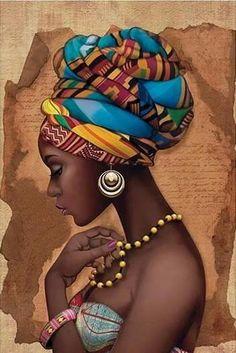 African Art Decor Cross Stitch Pattern - African Art Print - African Decor - Black Women - Embroider