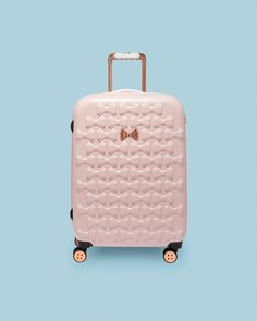 Ted Baker Bow detail medium suitcase Pink