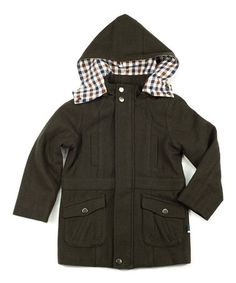 This Dark Khaki Charlie Jacket - Toddler & Boys by Petit De Nimes is perfect! #zulilyfinds