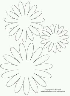 fleurs en feutrine (gabarit) Paper Flower Template: Use this paper flower template to create the prettiest flowers to decorate cards and gift boxes. Cut the templates out and use them to cut paper flowers: Giant Paper Flowers, Diy Flowers, Fabric Flowers, Flower Paper, Origami Flowers, Diy Paper, Paper Art, Paper Crafts, Free Paper