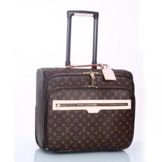 2012 Louis vuitton 1:1 the best quality rolling luggage monogram canvas computer m23205