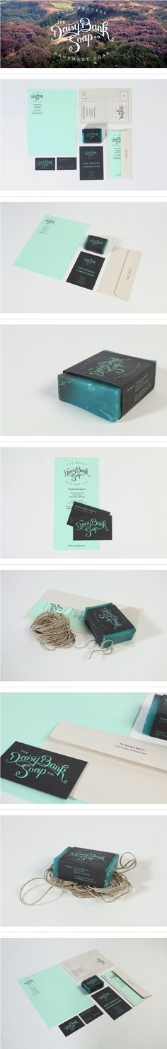 Branding and packaging for the Daisy Bank Soap Company. Corporate Design, Brand Identity Design, Graphic Design Branding, Typography Design, Logo Design, Corporate Identity, Visual Identity, Branding Agency, Business Branding