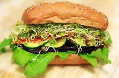 Vollkornsandwich mit gegrilltem Gemüse ♥ whole grain sandwich with grilled veggies