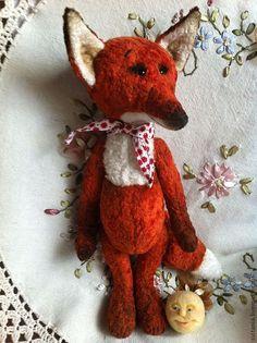 Купить Лиса и Колобок - лисичка, лиса, игрушка лиса, рыжий, ручная работа, плюшевая игрушка