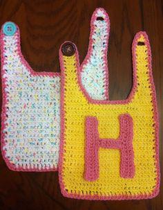 Set of 2 Crocheted Baby Bibs @Jody Rieck Leiby