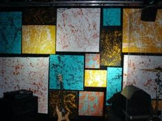 Splatter This    The CRY Cabinet could do this with a roll of white newsprint and acrylic paint.  Would be a cool backdrop for keynote and worship.  Just have to figure out how to hang them.