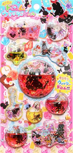fairy Tale Alice in Wonderland 3D capsule sticker 2