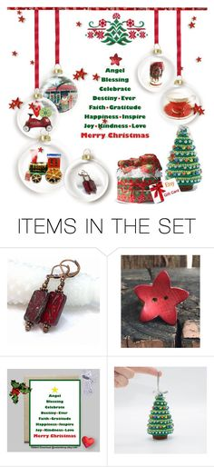 """Christmas Decor ...and More 🎄❤"" by riagr ❤ liked on Polyvore featuring art and vintage"