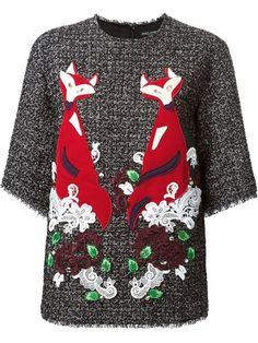 ショッピング Dolce & Gabbana フォックスアップリケ カットソー in Smets from the world's best independent boutiques at farfetch.com. Over 1000 designers from 300 boutiques in one website.