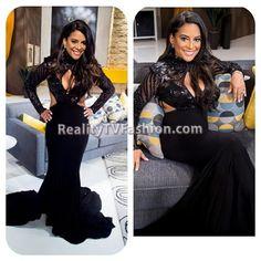 Lisa Nicole Cloud Reunion Show Black Cut-Out Dress