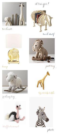 animal themed nursery decor