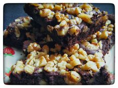 Chocolate Mousse Brownies (Gluten Free) from my blog I'd Much Rather Bake Than...