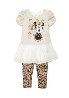 Disney  2-Piece Minnie Mouse174 Character Tunic and Legging Set Toddle
