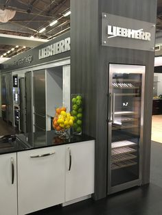 Liebherr Appliances featured several models of refrigeration and wine storage at the AD Design Show.