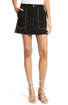 71cec2f9a594a Free shipping and returns on Rebecca Minkoff Barry Suede Miniskirt at  Nordstrom.com. Studded