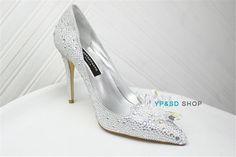 Cinderella Princess Crystal Shoes Girls Womens High Heels wedding shoes diamond   eBay