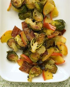 Brussels sprouts with bacon and apple - Martha Stewart (no bacon for me, but I ate a similar dish at a restaurant this week and have a craving...)