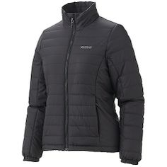 DECENT FEATURES of the Marmot Women's Brilliant Jacket Thermal RE co Insulation Zippered Hand Pockets Inside Zip Pocket Elastic Draw Cord Hem Angel-Wing Movement Zippin Compatible The SPECS Weight: 14.8 oz / 419.6 g Material: 100% Polyester Ripstop DWR2.3 oz/yd Center Back Length: 24 in. Fit: Regular