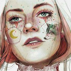 Follow my art insta @anarosedraws ❕