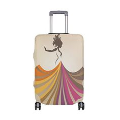 Cooper girl Colorful Tie Dye Travel Luggage Cover Suitcase Protector Fits 31-32 Inch